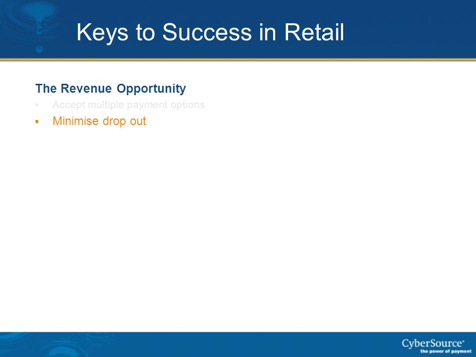 Keys to Success in Retail