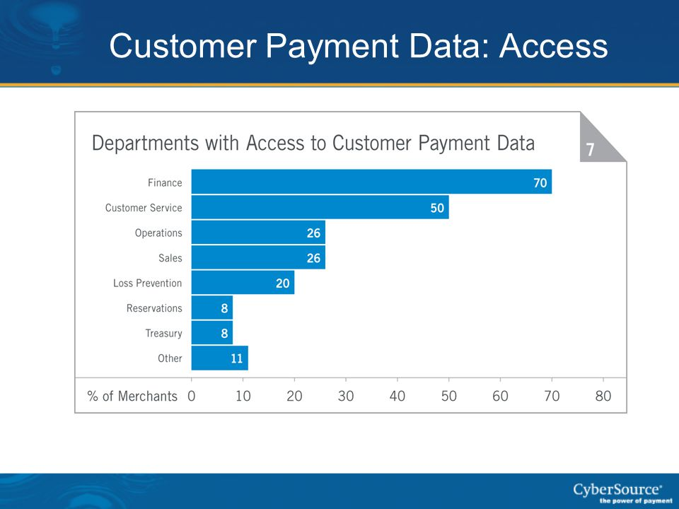 Customer Payment Data: Access