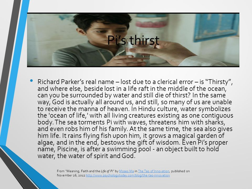 The shared study of paired texts ppt download for Life of pi swimming pool