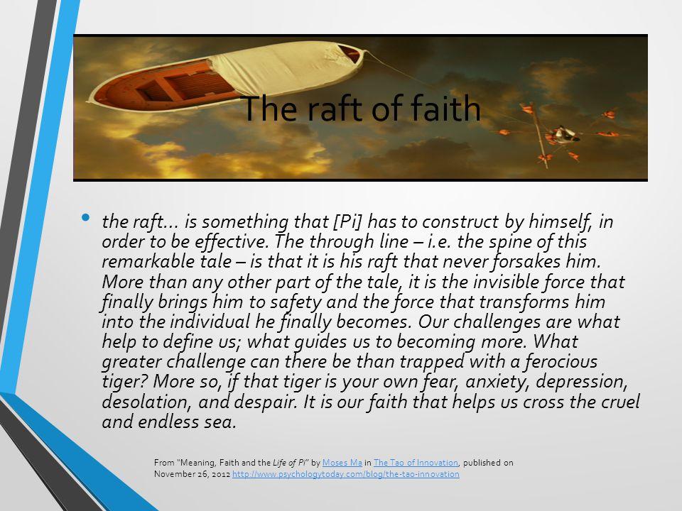 The raft of faith