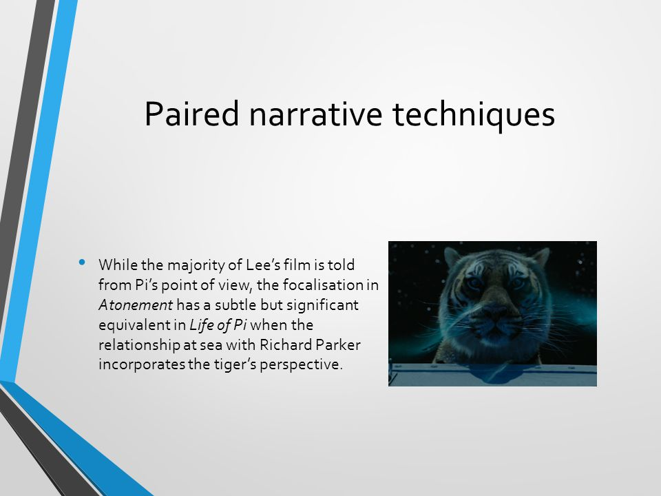 Paired narrative techniques