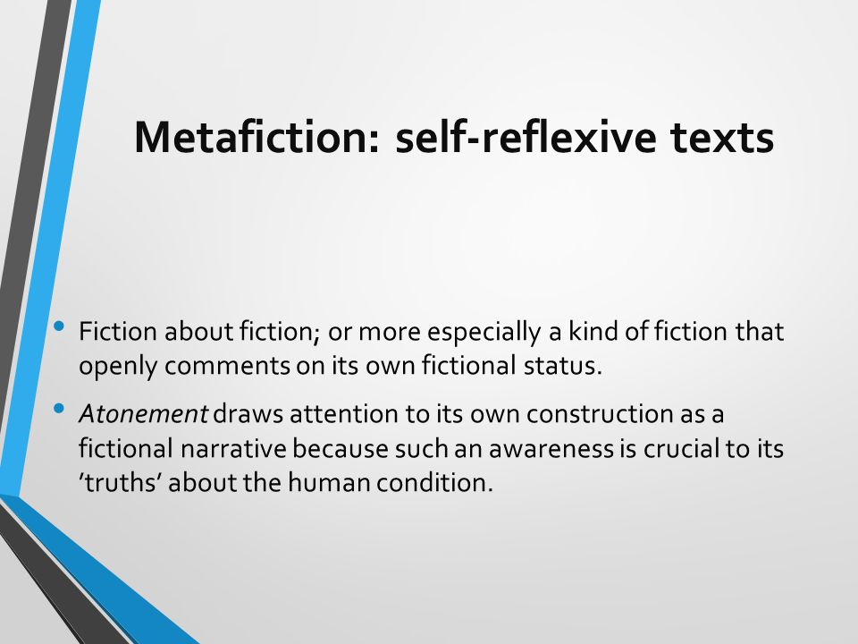 historiographic metafiction essay However gorelova's summary of hassan's attempt to identify differences between   the concept of historiographic metafiction plays an important role in.