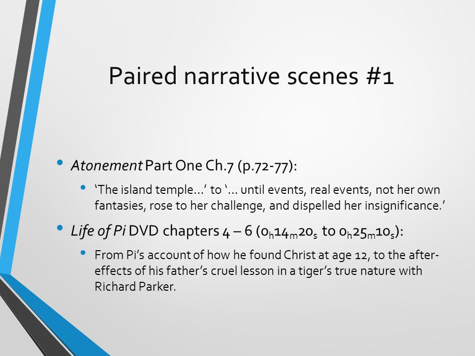 Paired narrative scenes #1