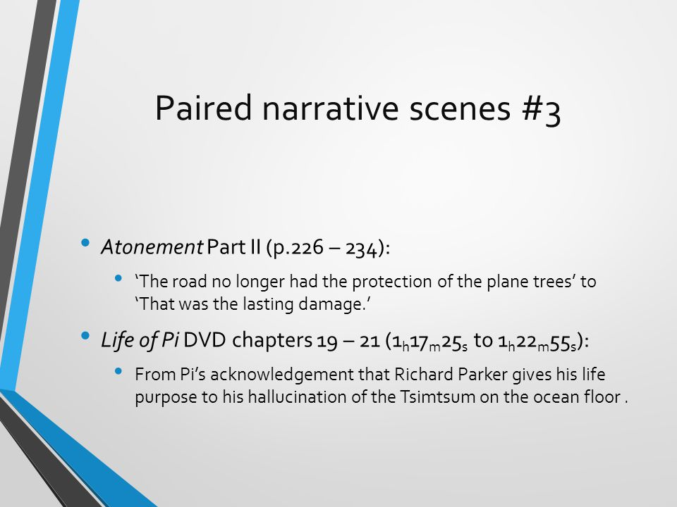 The shared study of paired texts ppt download for Life of pi characterization