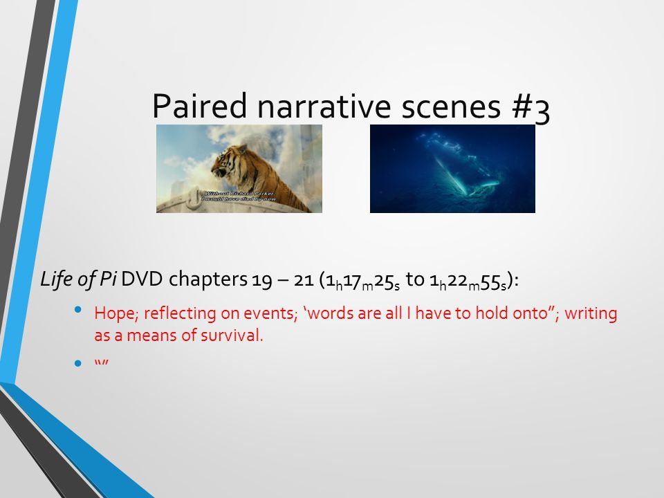 Paired narrative scenes #3
