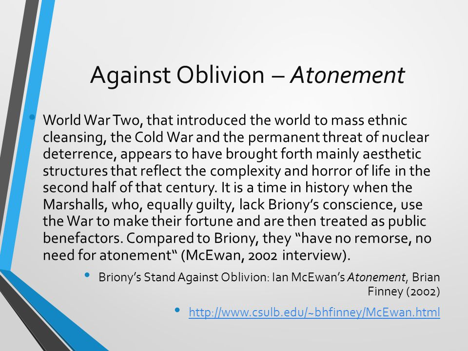 Against Oblivion – Atonement