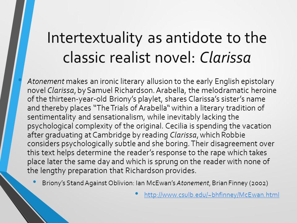 Intertextuality as antidote to the classic realist novel: Clarissa