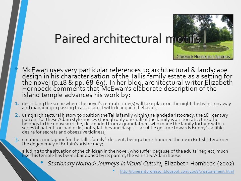 Paired architectural motifs
