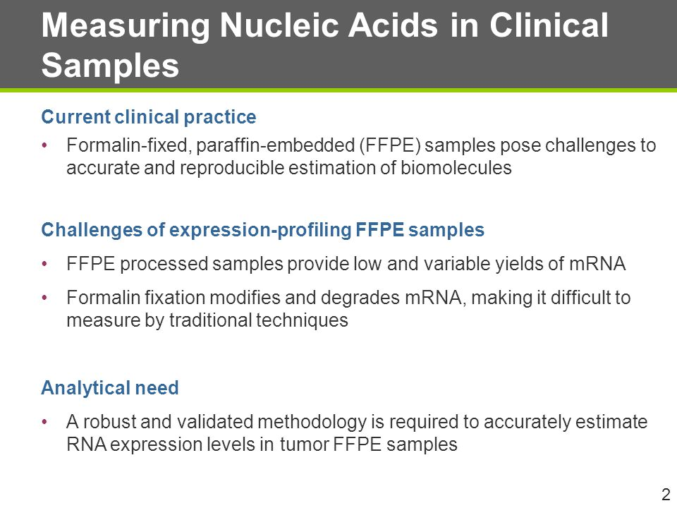 Measuring Nucleic Acids in Clinical Samples