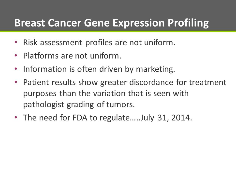 Breast Cancer Gene Expression Profiling