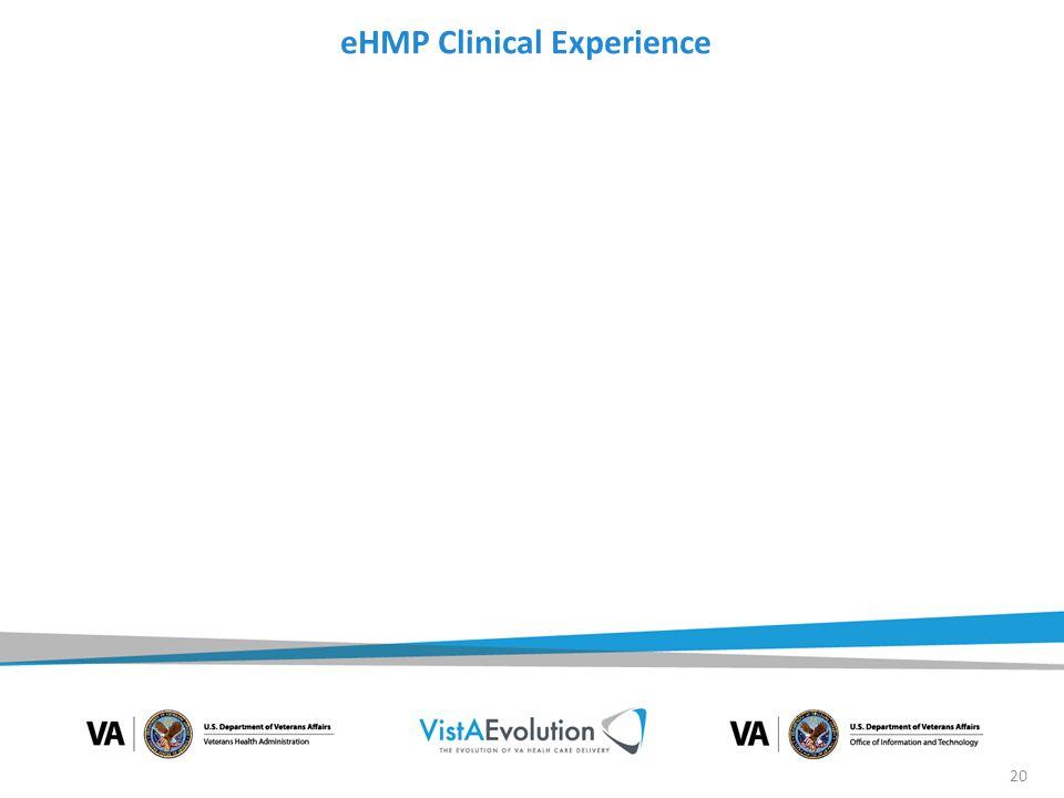 eHMP Clinical Experience