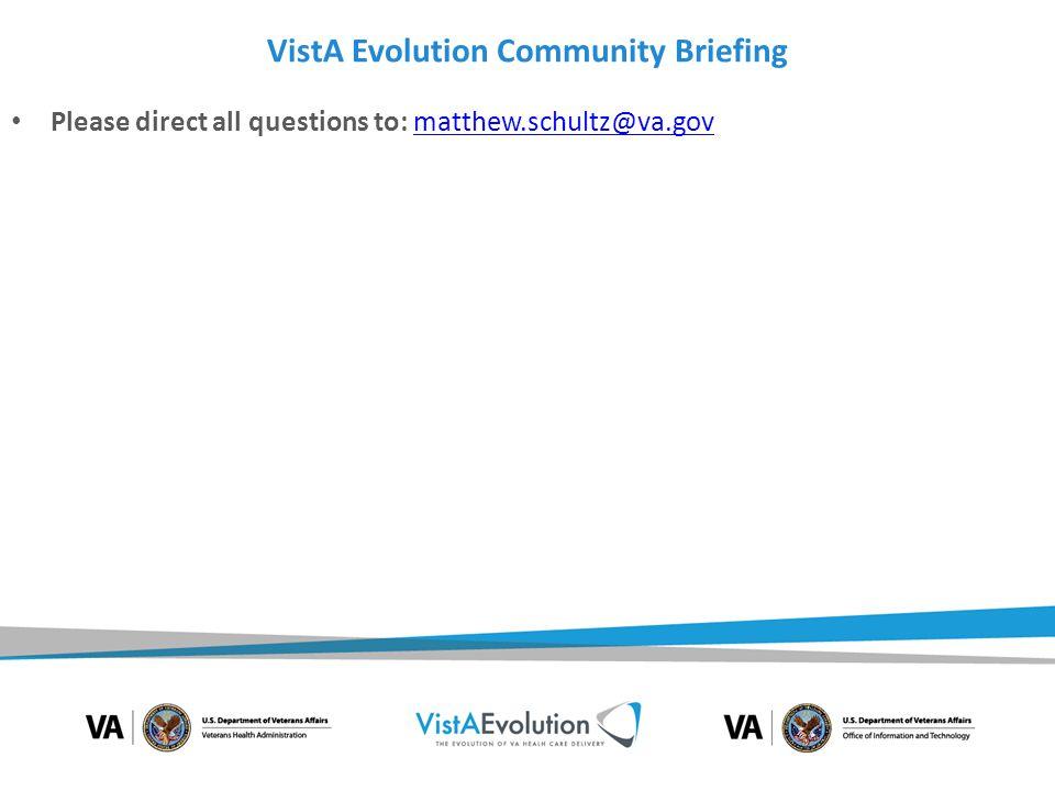 VistA Evolution Community Briefing