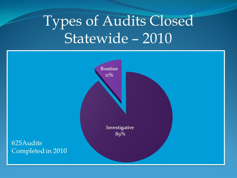 Types of Audits Closed Statewide – 2010