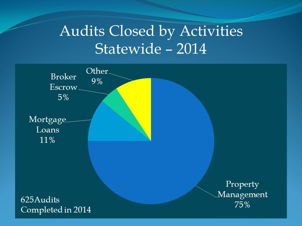 Audits Closed by Activities Statewide – 2014