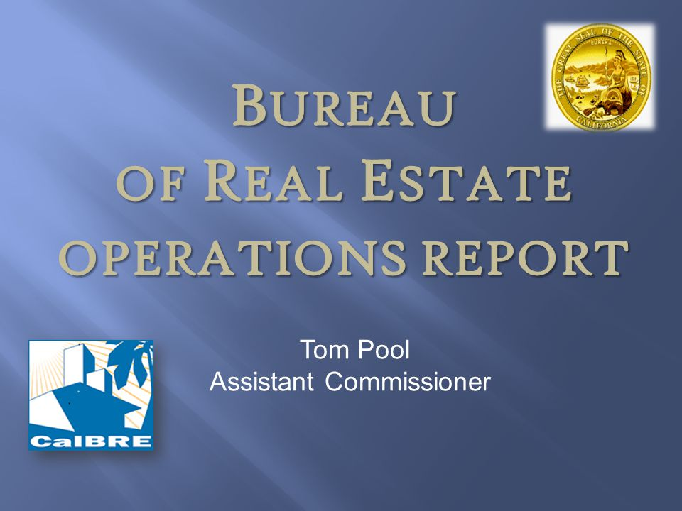 BUREAU of Real Estate Operations Report