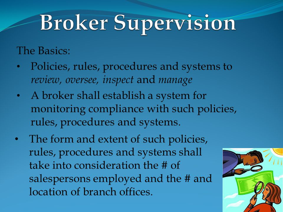 Broker Supervision The Basics: