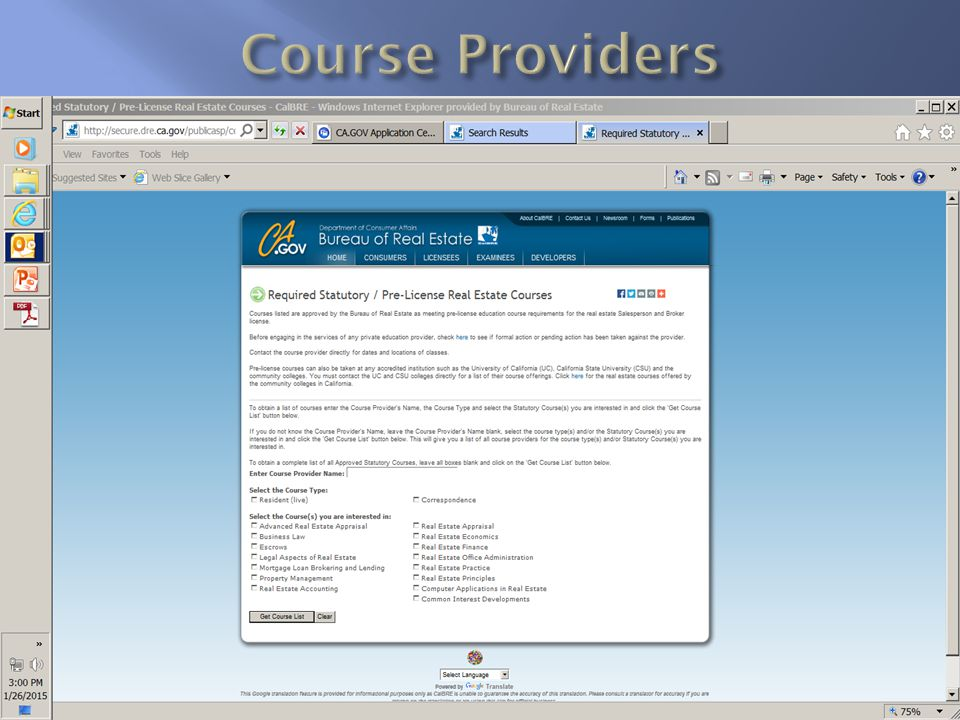 Course Providers