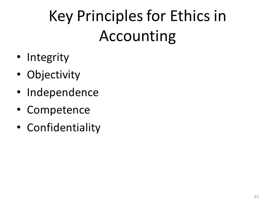 Key Principles for Ethics in Accounting
