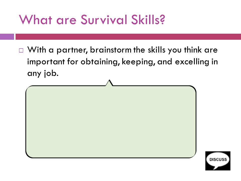 What are Survival Skills