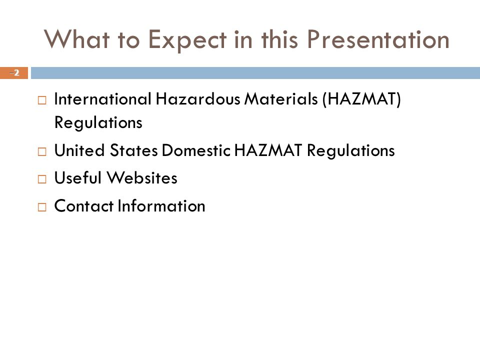 What to Expect in this Presentation