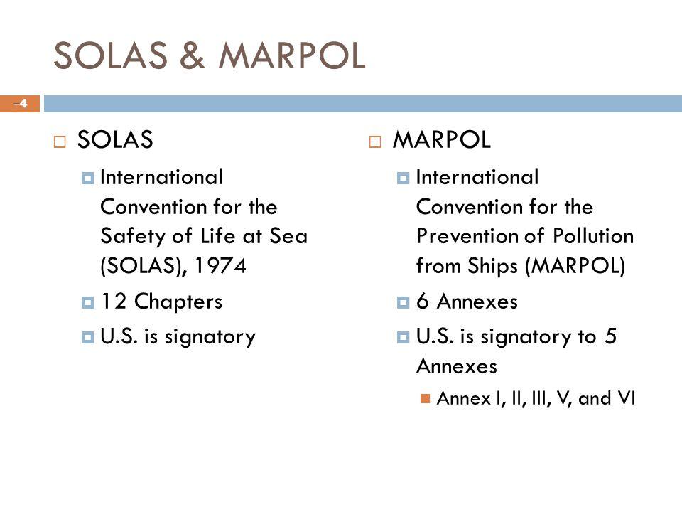 SOLAS & MARPOL SOLAS MARPOL