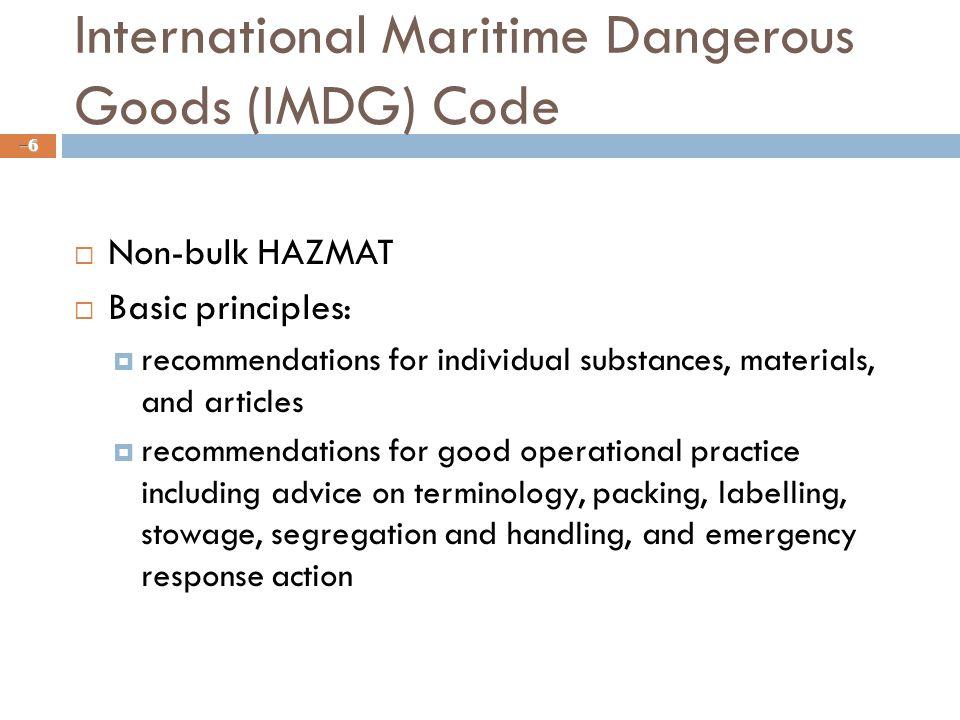 International Maritime Dangerous Goods (IMDG) Code