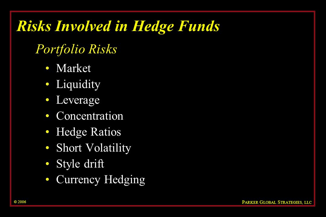 Risks Involved in Hedge Funds