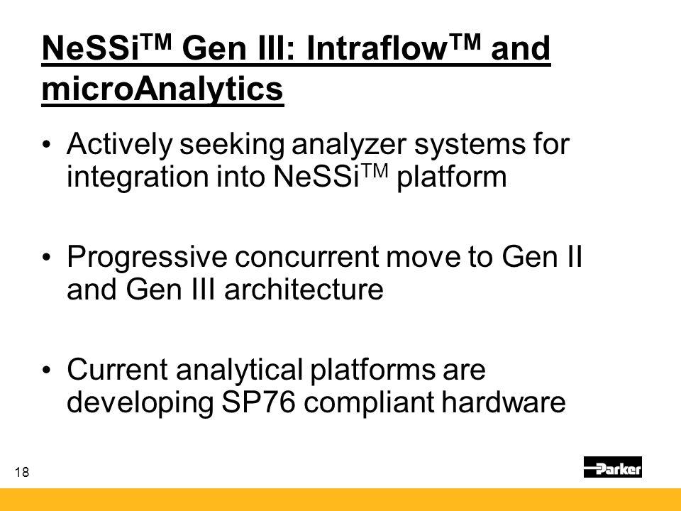 NeSSiTM Gen III: IntraflowTM and microAnalytics