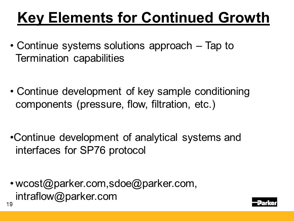 Key Elements for Continued Growth