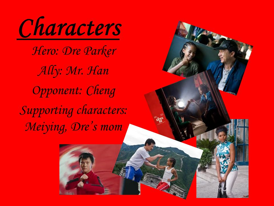 Supporting characters: Meiying, Dre's mom