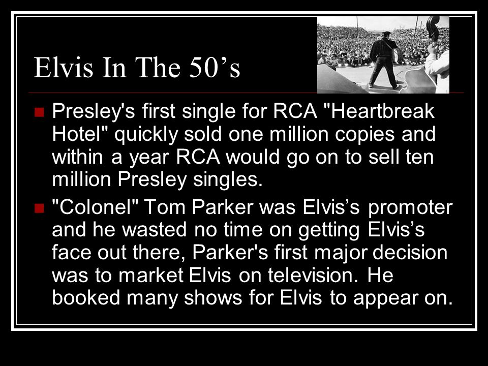 Elvis In The 50's