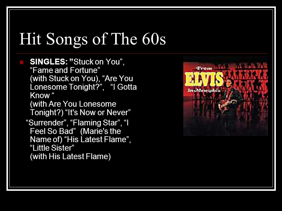 Hit Songs of The 60s