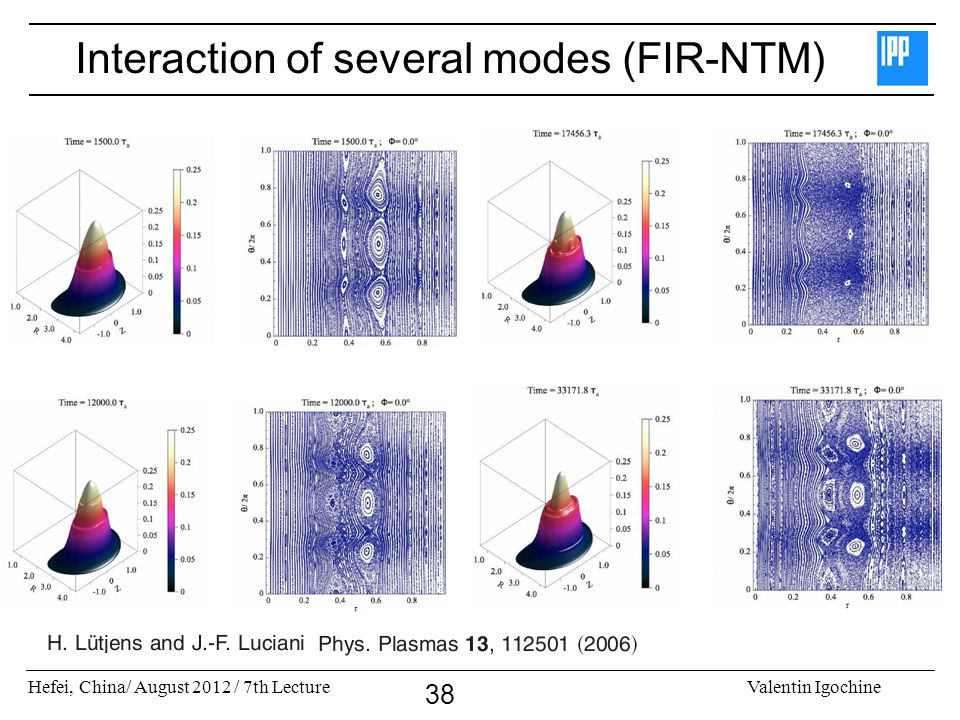 Interaction of several modes (FIR-NTM)