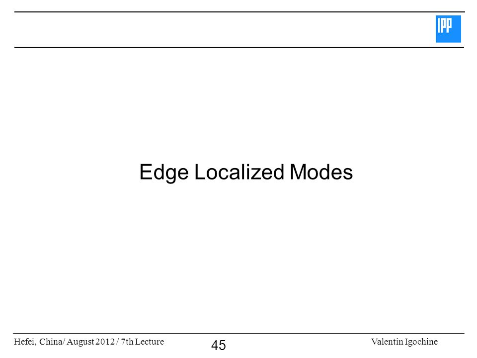 Edge Localized Modes