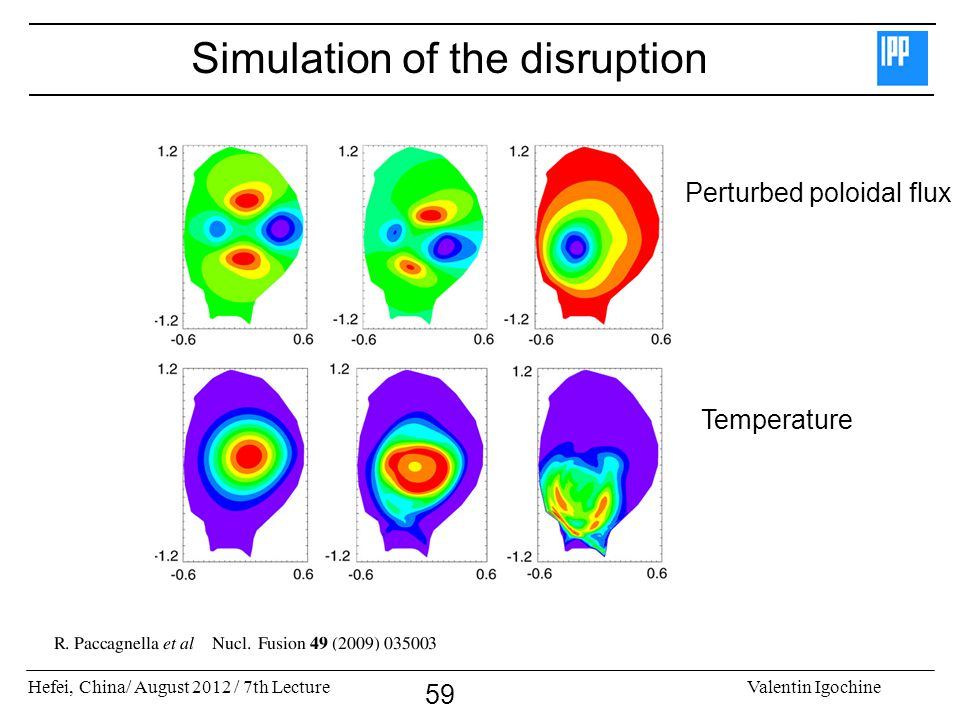 Simulation of the disruption