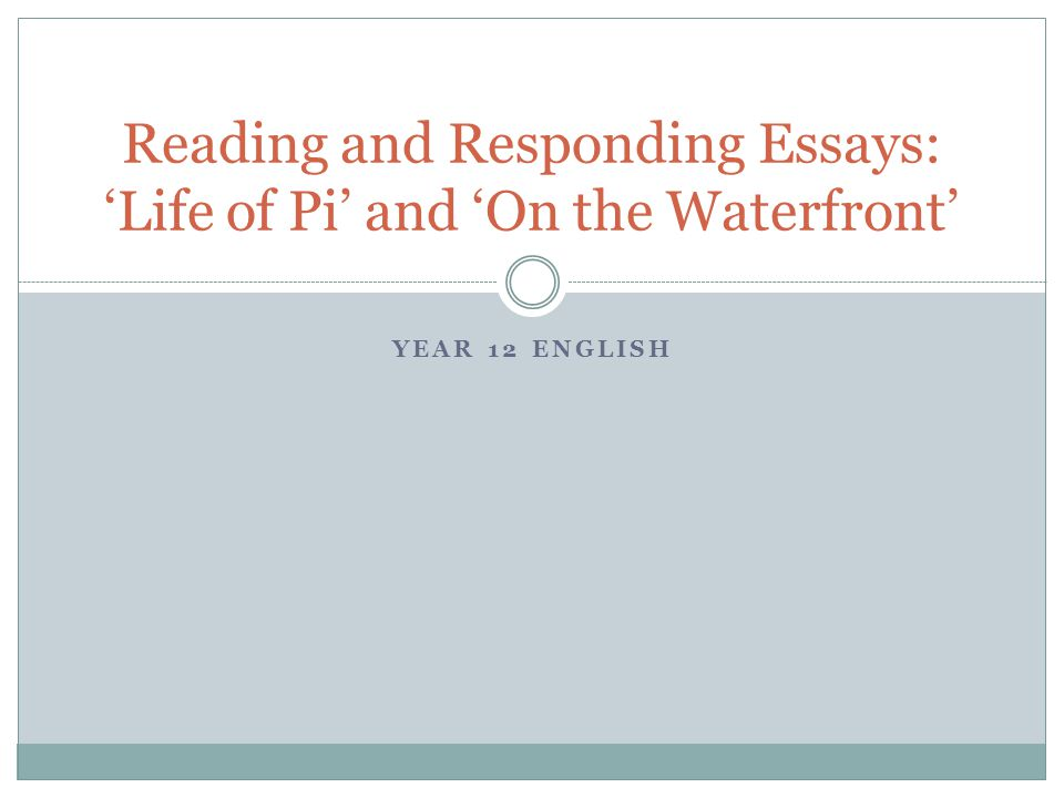 life of pi essay thesis Life of pi final essay: be sure to use textual evidence from the novel to support your essay choose one and compose a 3-5 page essay: 1 in this particular work of.