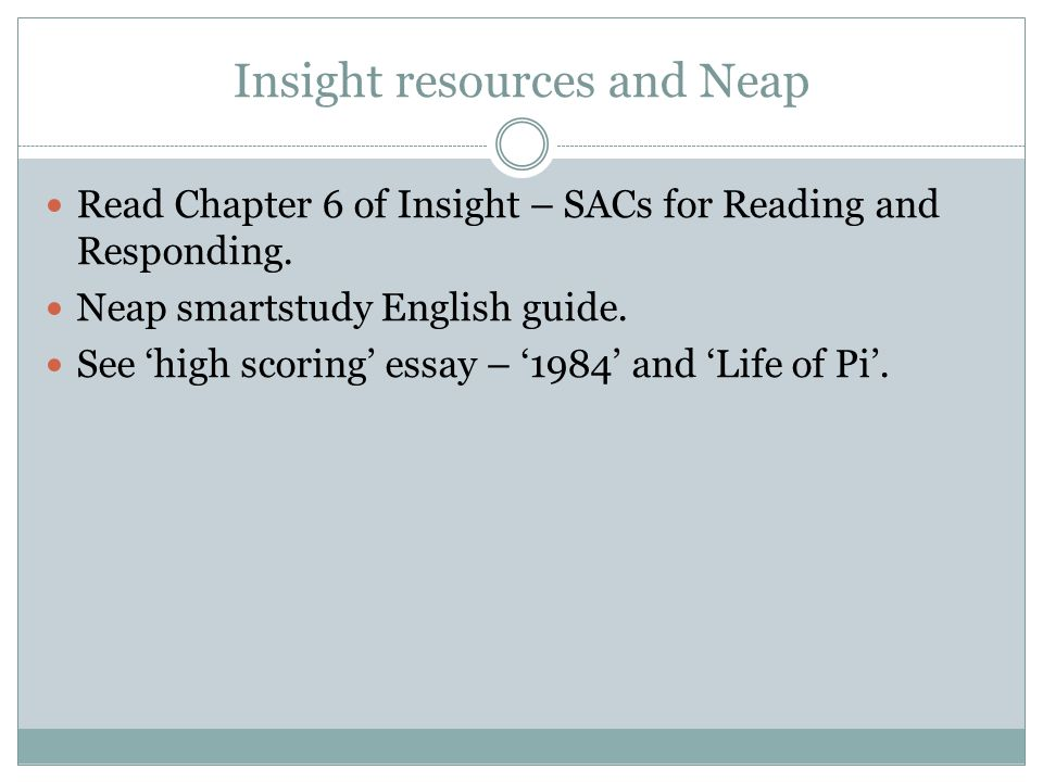 Insight resources and Neap