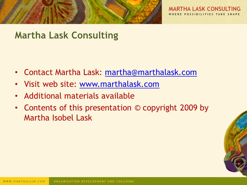 Martha Lask Consulting