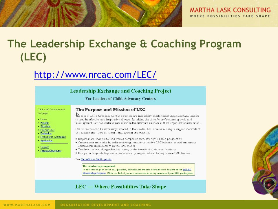 The Leadership Exchange & Coaching Program (LEC)