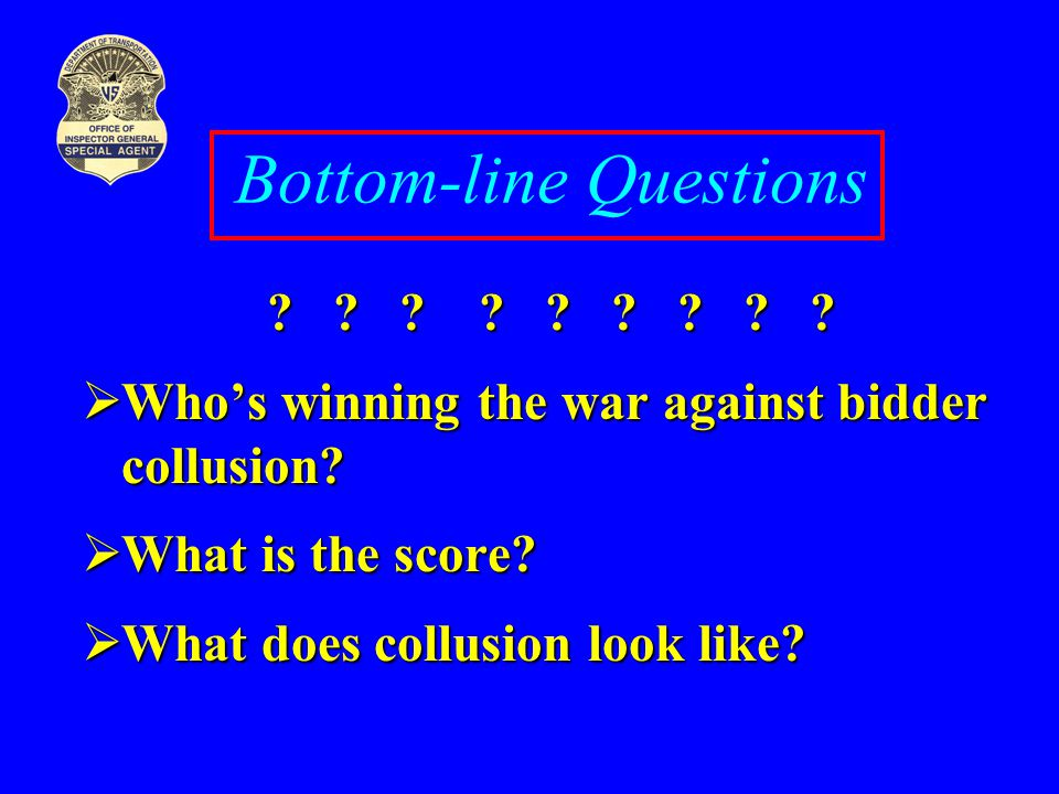 Bottom-line Questions