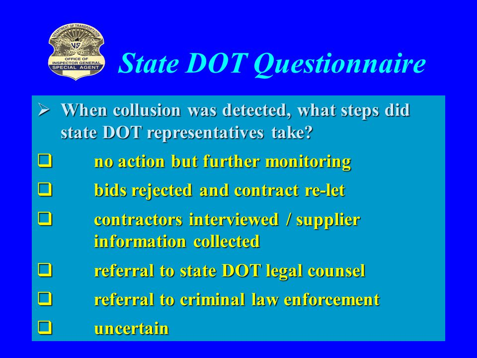 State DOT Questionnaire