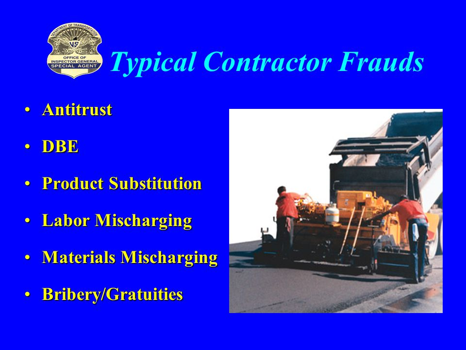 Typical Contractor Frauds