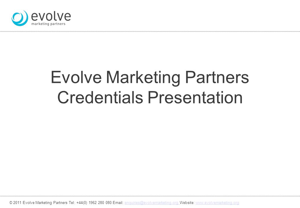 Evolve Marketing Partners Credentials Presentation