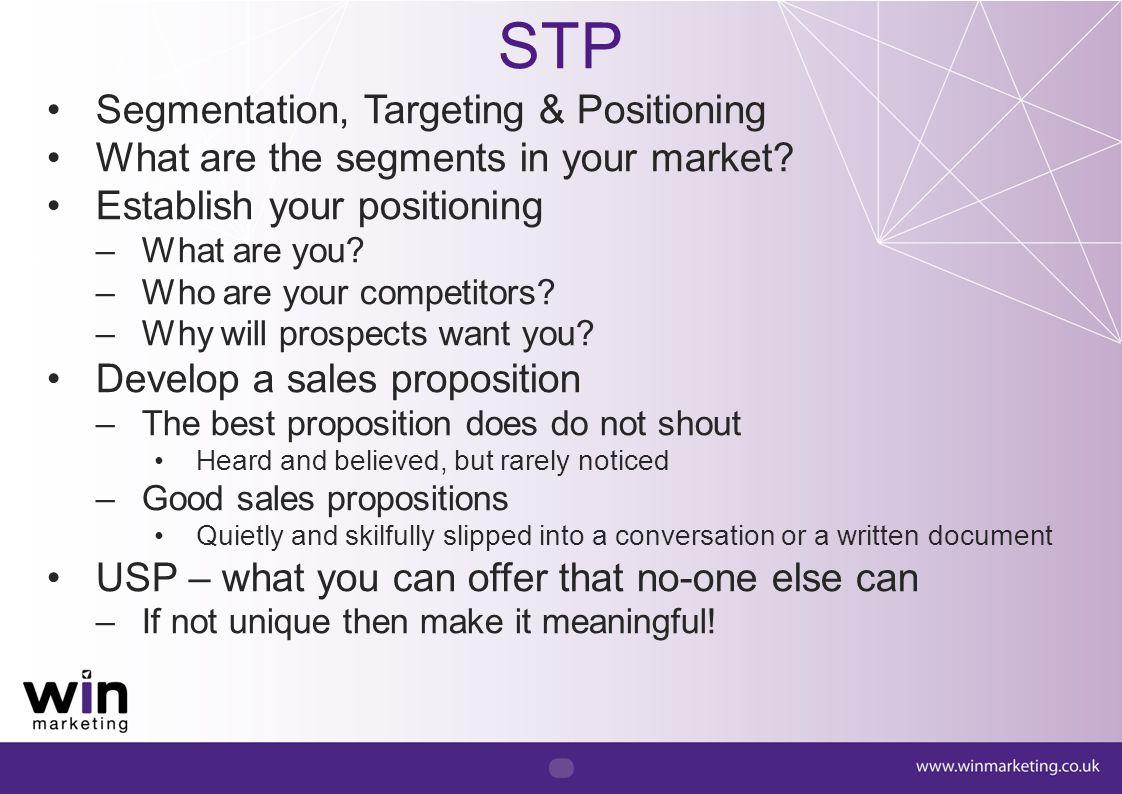 STP Segmentation, Targeting & Positioning