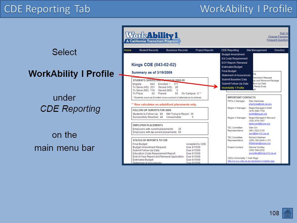 Select WorkAbility I Profile