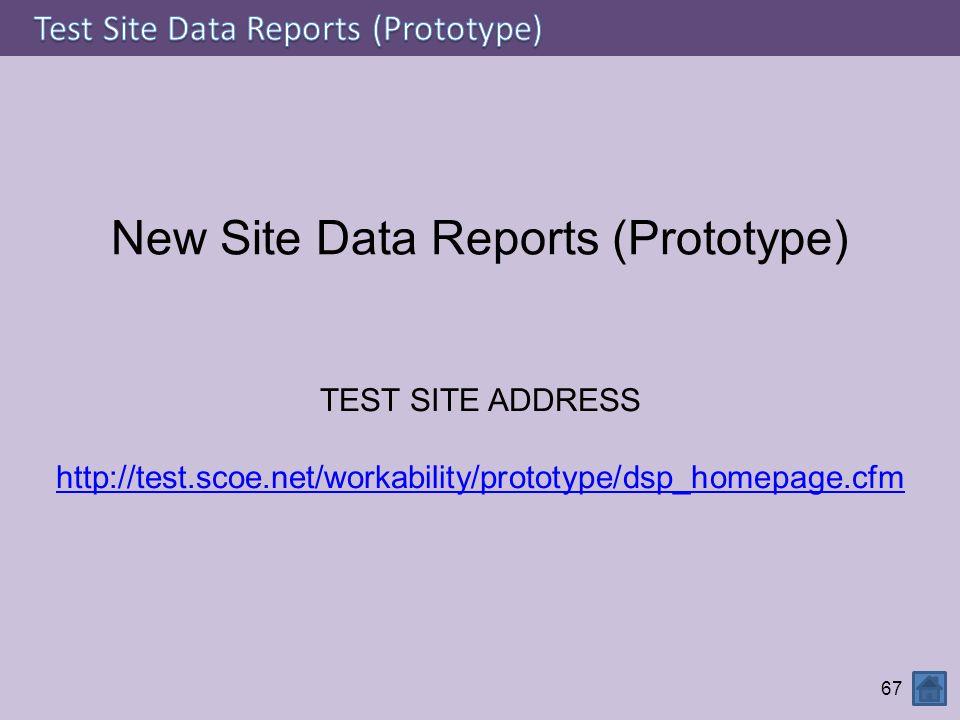 New Site Data Reports (Prototype)