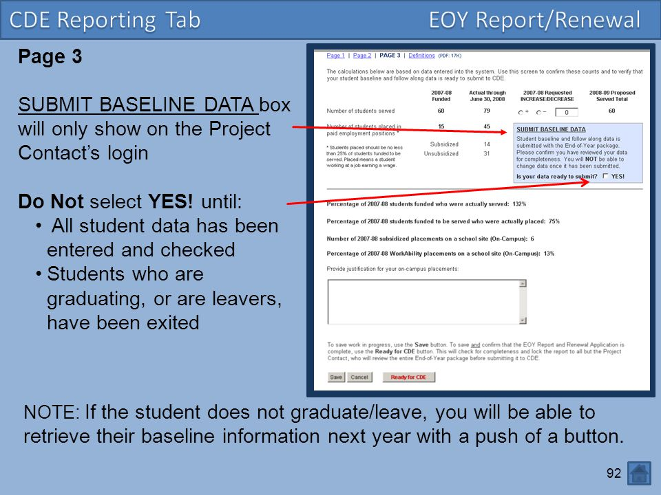 CDE Reporting Tab EOY Report/Renewal Page 3