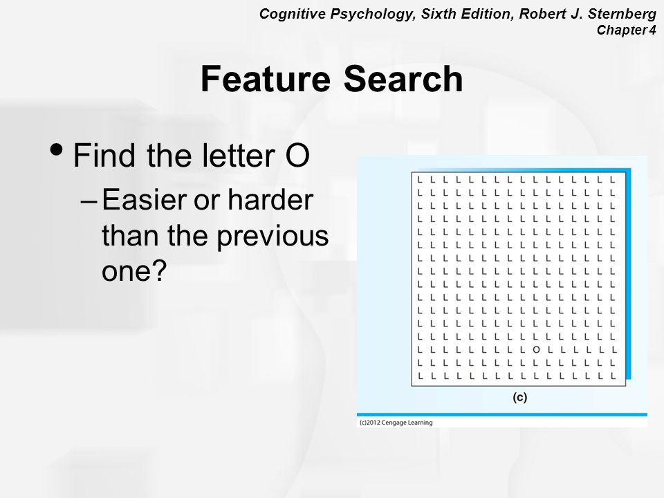 Feature Search Find the letter O