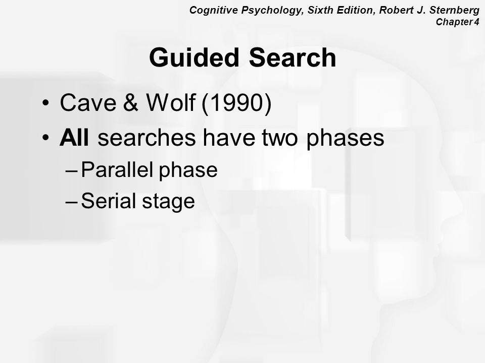 Guided Search Cave & Wolf (1990) All searches have two phases