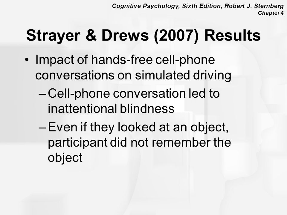 Strayer & Drews (2007) Results